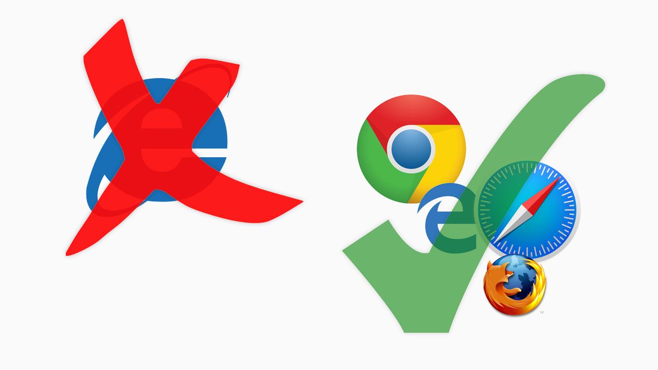 Geen Internet Explorer meer